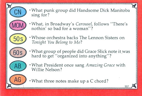 Trivial Pursuit card front